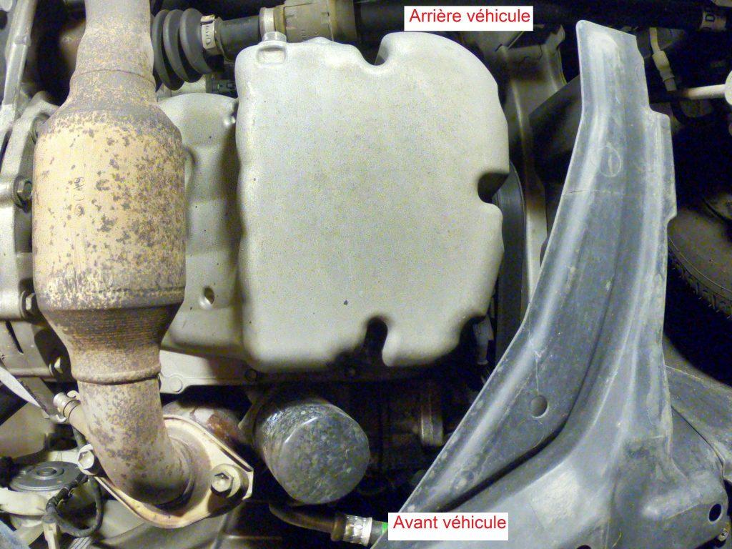 Toyota Yaris emplacement bouchon vidange filtre huile