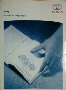 manuel propriétaire toyota yaris