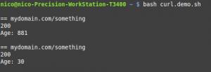 Curl obtenir http_code d'une url