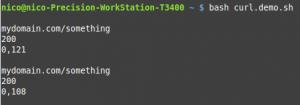 Curl obtenir http_code et temps de chargement d'une page