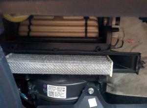Changement filtre habitacle Toyota Yaris