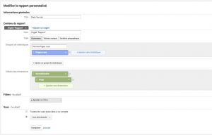 Varnish stats création rapport personnalisé - Google Analytics