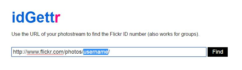 Flickr Copy username