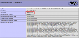 phpinfo php7.0-fpm
