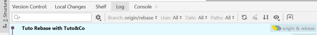 log commits after rebase