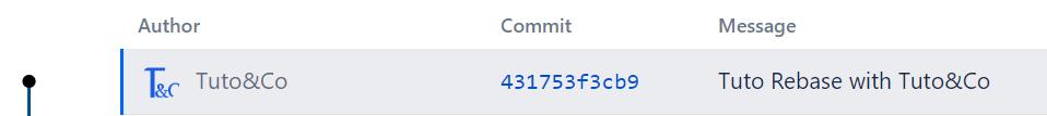 log commits after rebase bitbucket